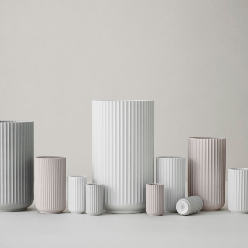 Lyngby Porcelæn Vase Hvid 15 cm-31