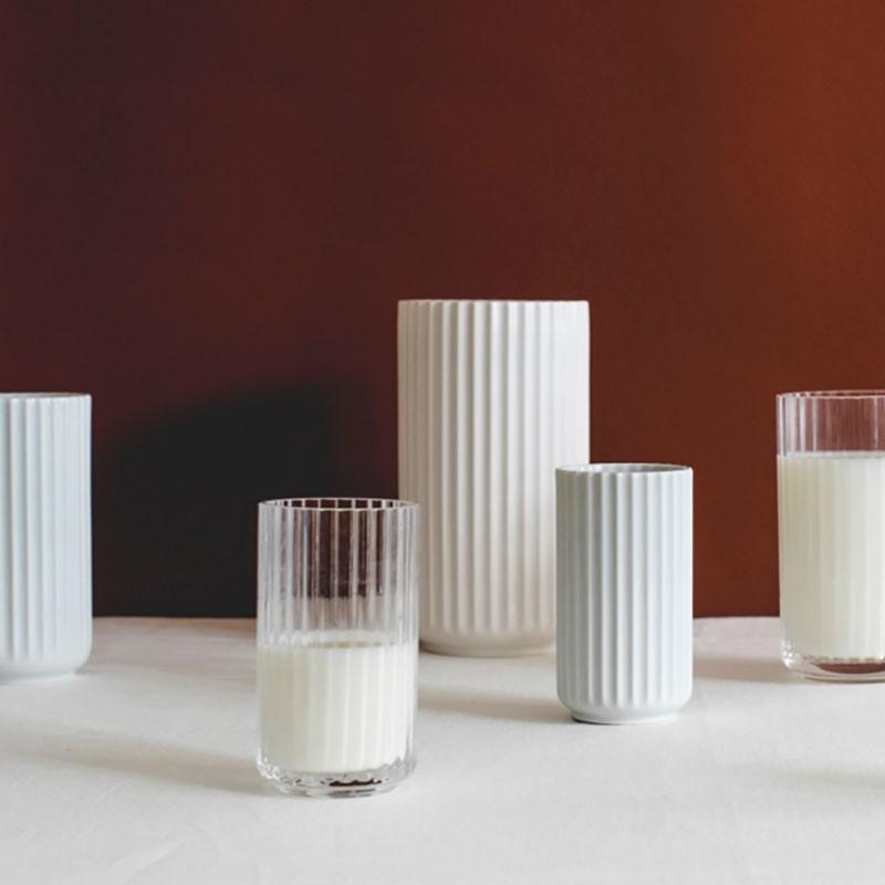 Lyngby Porcelæn Vase Hvid 8 cm-31