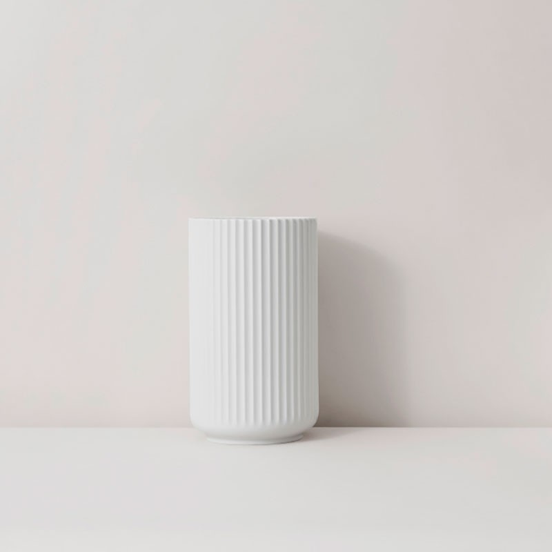 Lyngby Porcelæn Vase Hvid 12 cm-31