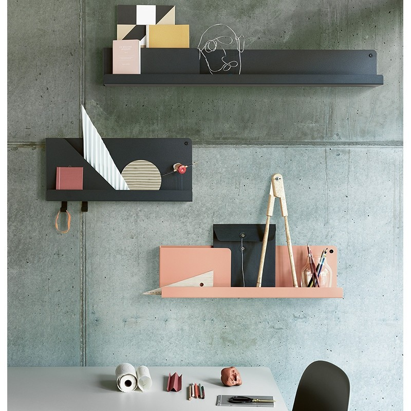 Muuto Folded Shelves Hylde Small Sort-31