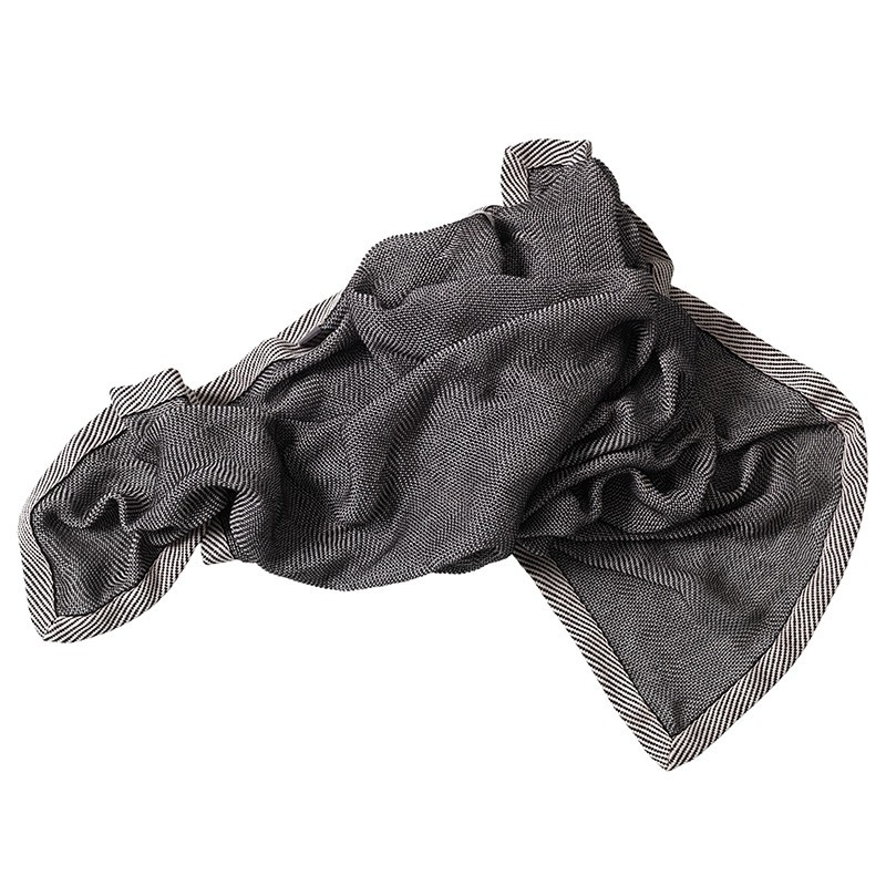 MUUTO Ripple Throw Plaid Bluish Black-31
