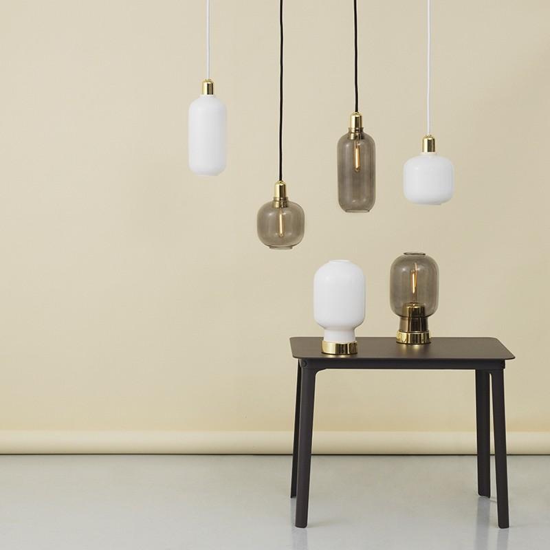 Normann Copenhagen Amp lampe Opal/Brass Large-31