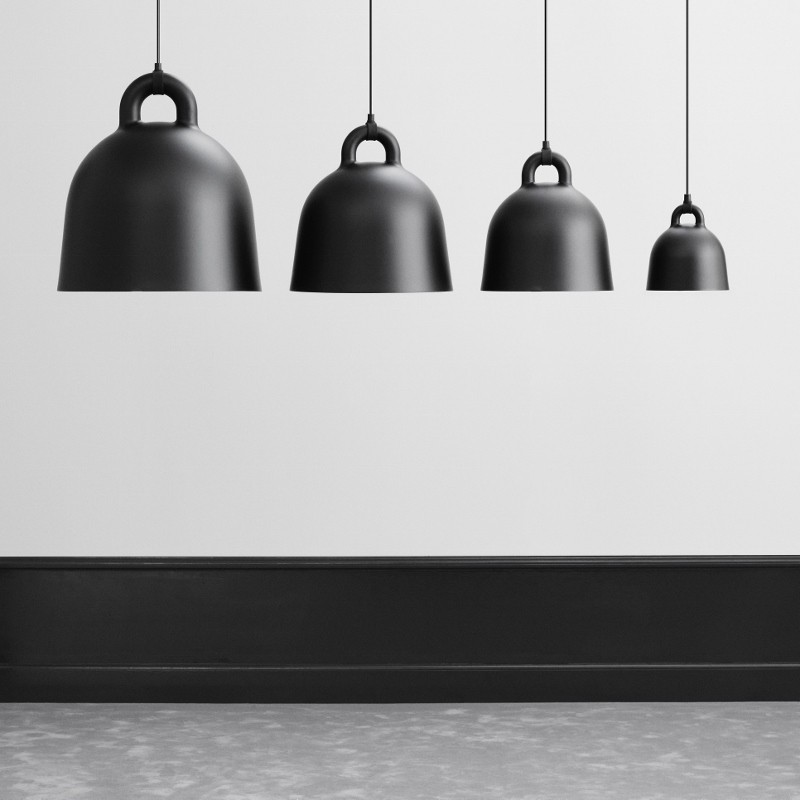 Normann Copenhagen Bell Lampe Medium Sort-31