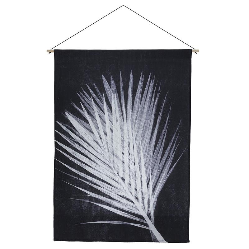 Pernille Folcarelli Palm Dark Grey Vægtæppe 100x140 cm-31