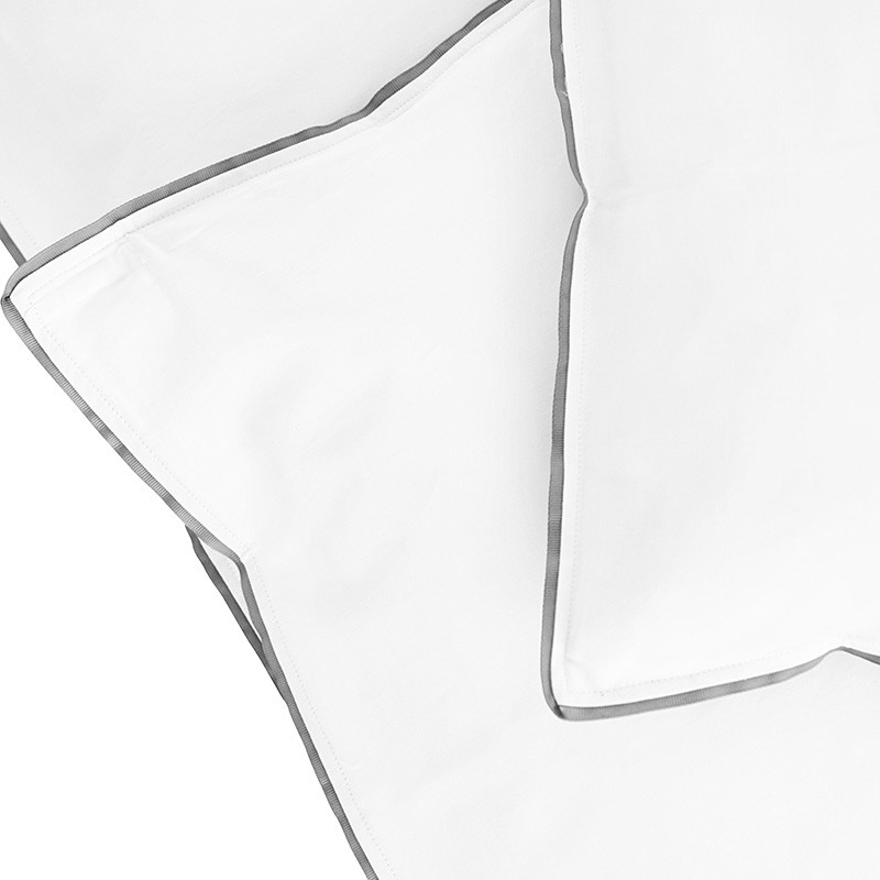 Semibasic Sengetøj Hvid/Grå 200x220 cm-31