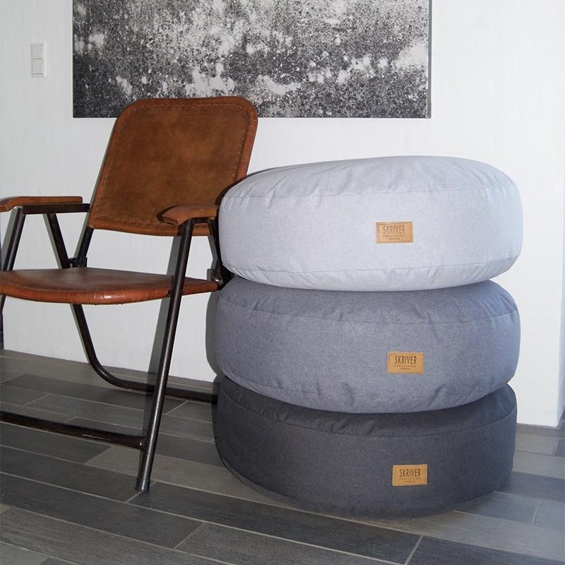 Skriver Collection Orlando Udendørs Puf Lysegrå-31