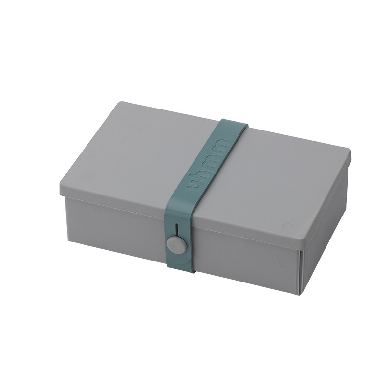 Uhmm Box No. 01 Light Grey Box/Petrol Strap 10x18 cm.-31