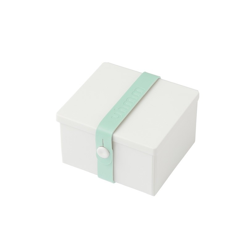 Uhmm Box No. 02 White Box/Mint Strap 10x12 cm.-31