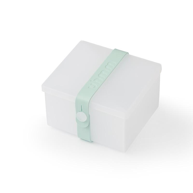 Uhmm Box No. 02 Transparent Box/Mint Strap 10x12 cm.-31
