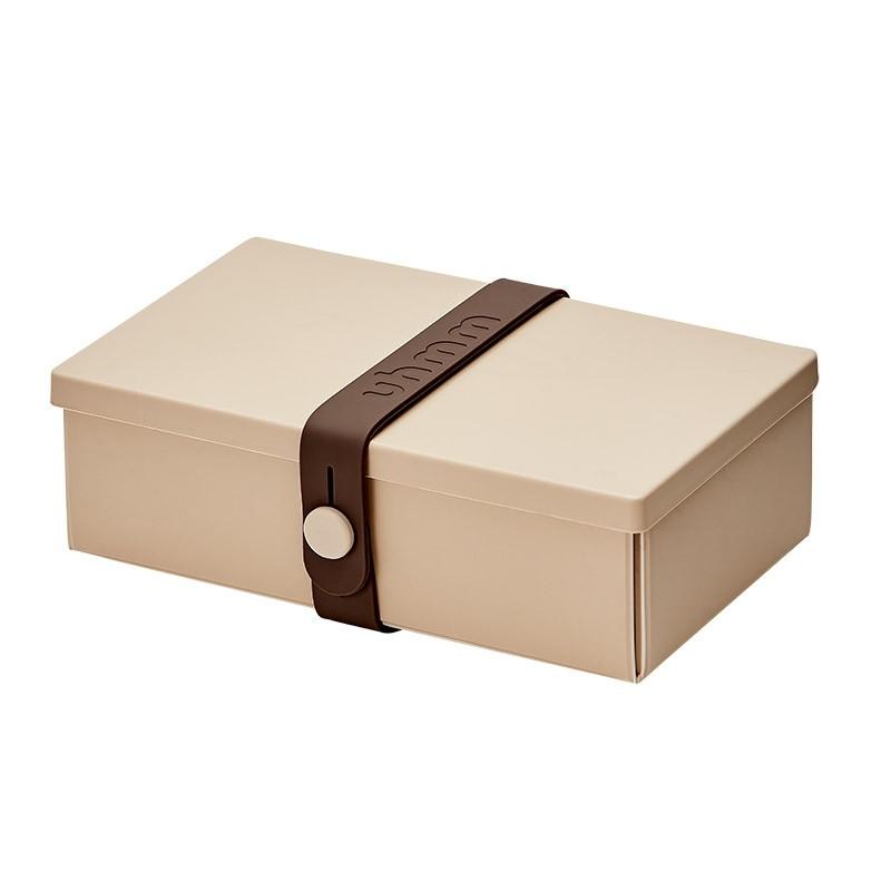 Uhmm Box No. 01 Mocca Box/Brown Strap 10x18 cm.-31