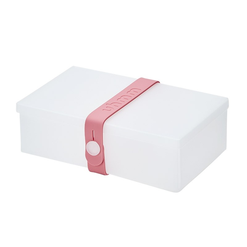 Uhmm Box No. 01 Transparent Box/Pink Strap 10x18 cm.-31