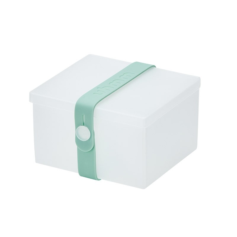 Uhmm Box No. 02 Transparent Box/Mint Strap 10x12 cm.-31