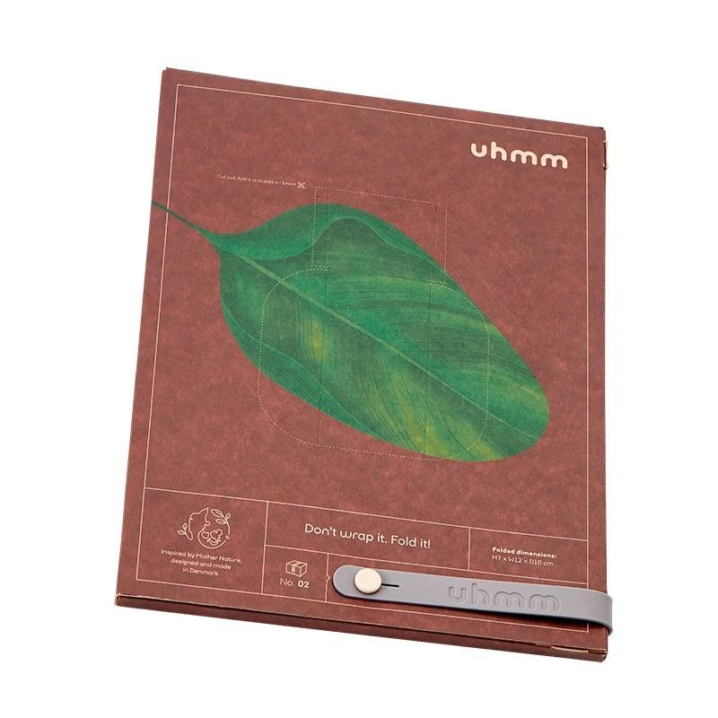 Uhmm Box No. 01 White Box/Petrol Strap 10x18 cm.-31