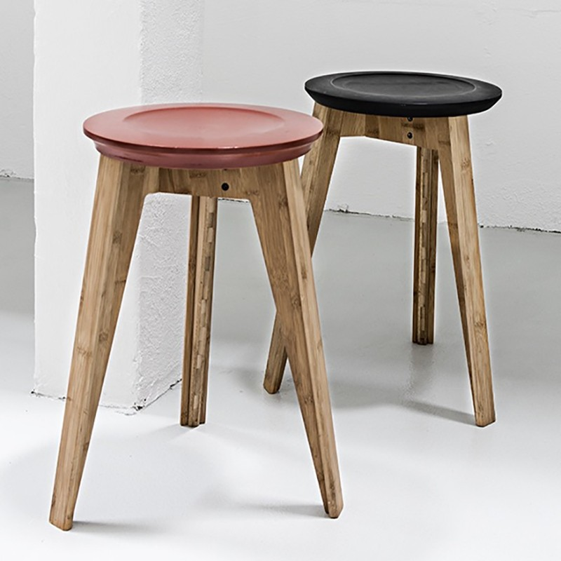 We Do Wood Button Taburet Rød-31