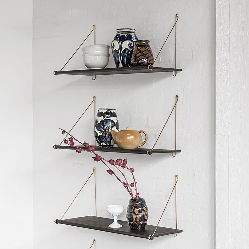 We Do Wood Hylde Loop Shelf Dark Bambus/Messing-31