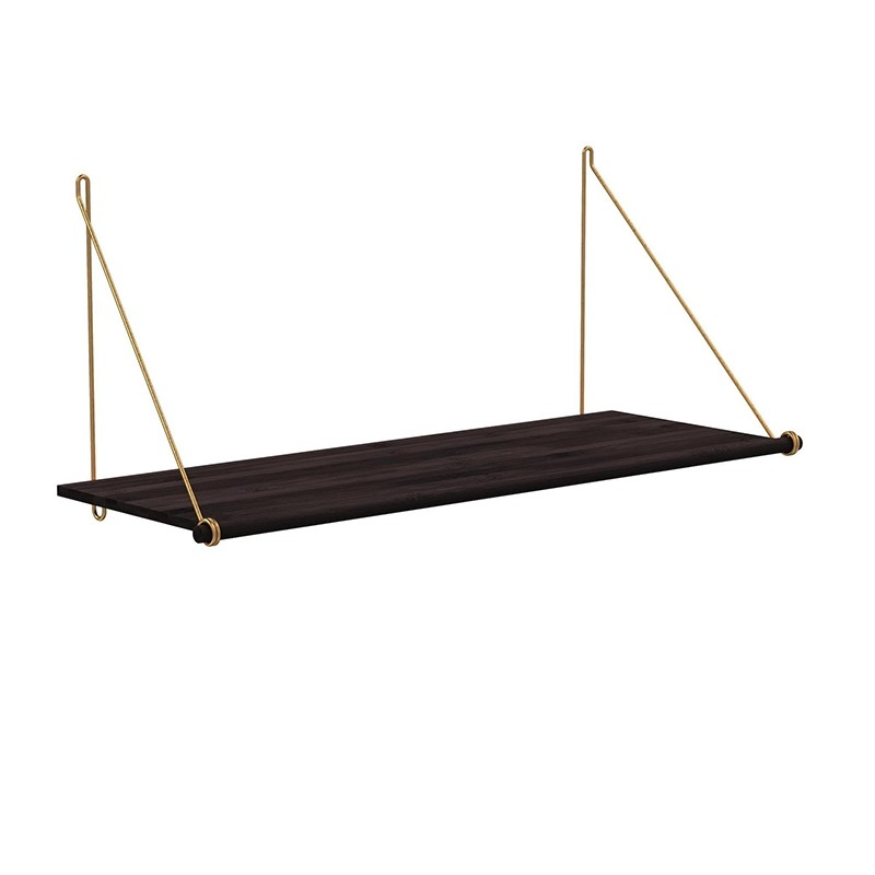 We Do Wood Hylde Loop Shelf Dark/Messing-31