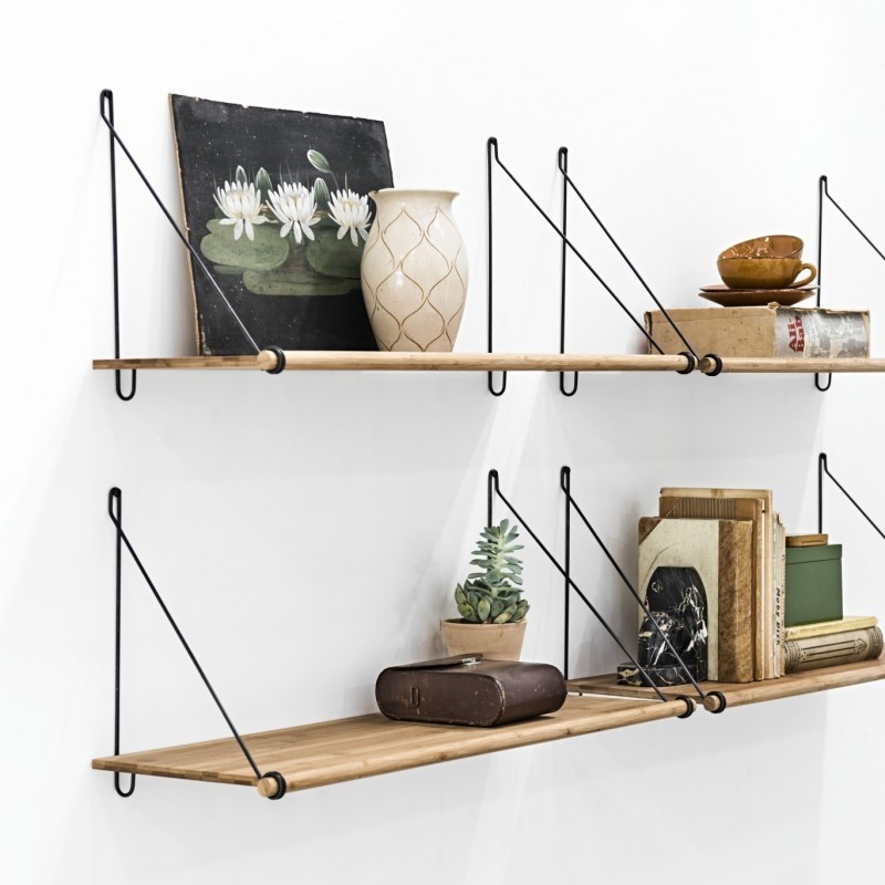 We Do Wood Hylde Loop Shelf Bambus Natur/Sort-31