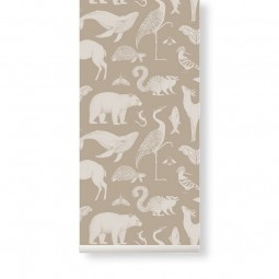 Ferm Living Tapet Katie Scott Animals Sand-20