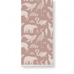 Ferm Living Tapet Katie Scott Animals Dusty Rose-20