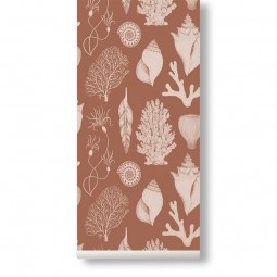 Ferm Living Tapet Katie Scott Shells Toffee Brown-20