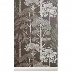 Ferm Living Tapet Katie Scott Trees Brown Grey-20