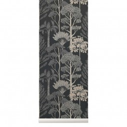 Ferm Living Tapet Katie Scott Trees Deep Petrol-20