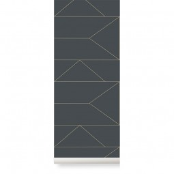 Ferm Living Tapet Lines Graphite-20