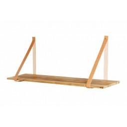 MUUBS teaktræshylde med læderstropper 120 cm-20
