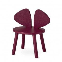 Nofred Mouse Stol Burgundy-20
