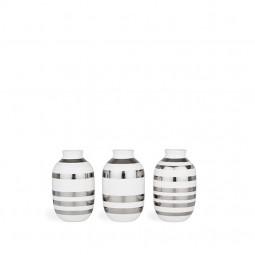 Kähler Omaggio Vaser 3-pak H80 Sølv-20