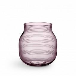Kähler Omaggio Vase Glas H170 Blomme-20