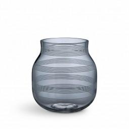Kähler Omaggio Vase Glas H170 Stålblå-20
