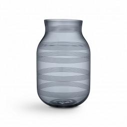 Kähler Omaggio Vase Glas H280 Stålblå-20