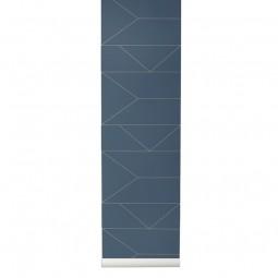 Ferm Living Tapet Lines Mørkeblå-20