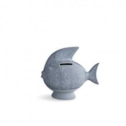 Kähler Sparedyr Fisk Gråblå-20