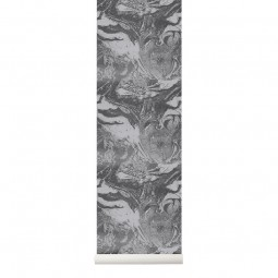 Ferm Living Tapet Marbling Charcoal-20