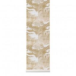 Ferm Living Tapet Marbling Guld-20