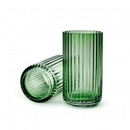 Lyngby Porcelæn Glas Vase Grøn 15 cm-20