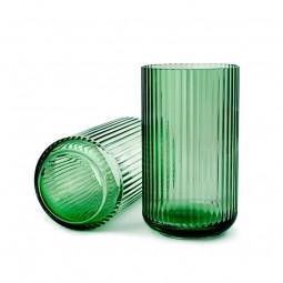 Lyngby Porcelæn Glas Vase Grøn 25 cm-20