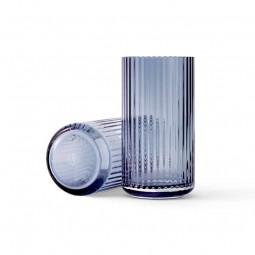 Lyngby Porcelæn Glas Vase Blå 20 cm-20
