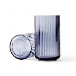 Lyngby Porcelæn Glas Vase Blå 25 cm-20