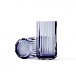 Lyngby Porcelæn Glas Vase Blå 12 cm-20