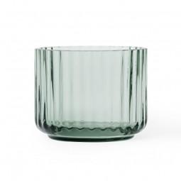 Lyngby Porcelæn Glas Fyrfadsstage Grøn-20