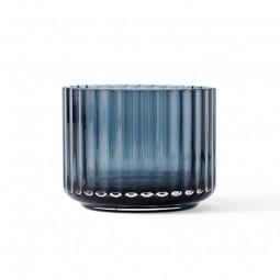Lyngby Porcelæn Glas Fyrfadsstage Blå-20