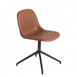 Muuto Fiber Side Chair Swivel Silk Læder-20