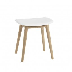 Muuto Fiber Taburet Wood Base-20