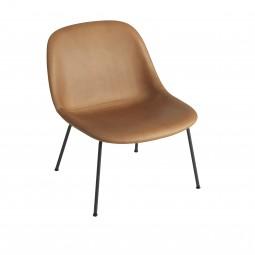Muuto Fiber Lounge Chair Tube Base Læder Cognac-20