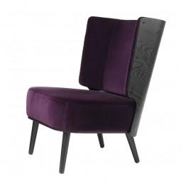 By KlipKlap Lounge Chair Sort Eg – Velour Aubergine-20