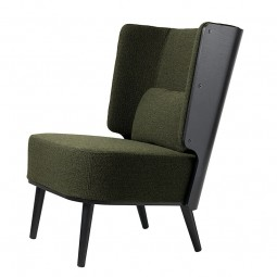 By KlipKlap Lounge Chair Sort Eg – Boucle Møkegrøn-20