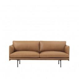 Muuto Outline 2. Pers. Sofa Cognac Refine Læder-20